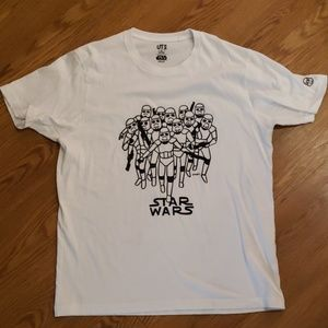 Star w Wars White Storm Trooper Tshirt